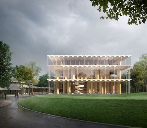 Architects Propose World's First Prefabricated Cross Laminated Timber Concert Hall for Nuremberg