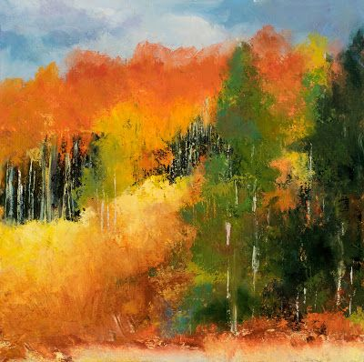 KMA3084 Expression of Fall by Denver, Colorado artist Kit Hevron Mahoney (24x24