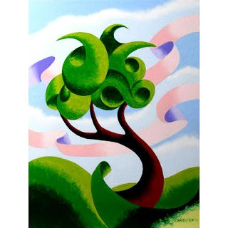 Mark Webster - Abstract Geometric Landscape Oil Painting 4.3.14