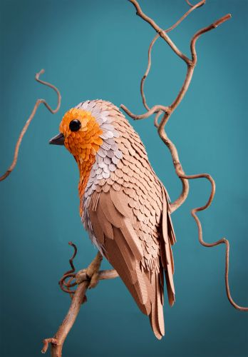 Using More Than 4,000 Pieces of Paper, Artist Lisa Lloyd Painstakingly Constructs Birds and Butterflies