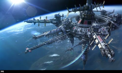 Horizon space station by Alexey Pyatov