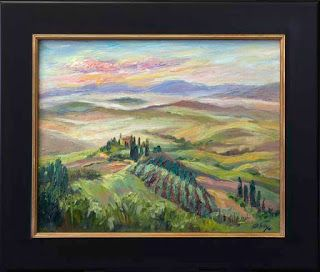 """New """"Misty Morning"""" in Tuscany by Contemporary Impressionist Niki Gulley"""