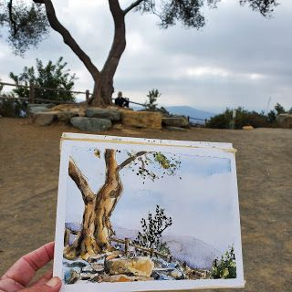 Painting at Double Peak Park in San Marcos