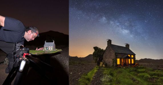 I Shoot Fake Miniature Scenes with the Real Milky Way