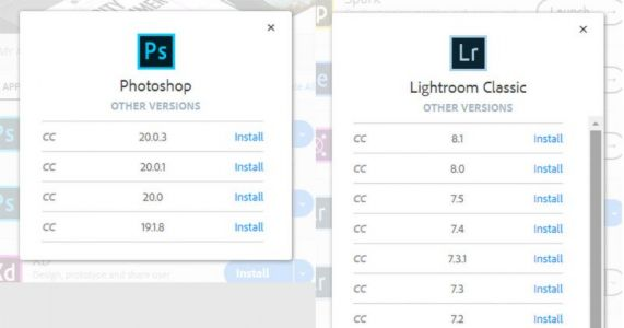 Adobe CC Removes Older Versions of Photoshop and Lightroom
