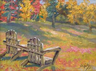 """Relaxation Awaits II"" by Contemporary Impressionist Niki Gulley"