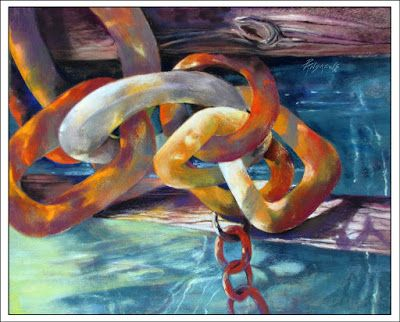 Chain Reaction..Pastel..Texas Artist..Rae Andrews
