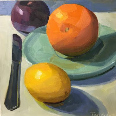 A Trio of Fruit and Knife