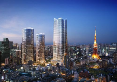 Pelli Clarke Pelli Design 3 Towers for the Regeneration of Central Tokyo
