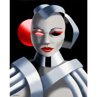 Mark Webster - Exoskeleton 1 - Abstract Portrait Oil Painting