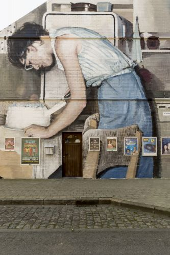 Vintage Family Photos Painted As Large Scale Murals by Mohamed L'Ghacham