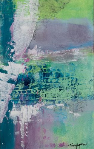 """Contemporary Art, Mixed Media Abstract Painting, Expressionism, """"Impasse Il"""" by Contemporary Artist Tracy Lupanow"""