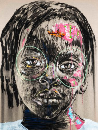Candid Charcoal and Oil Paint Portraits of South African Children by Nelson Makamo