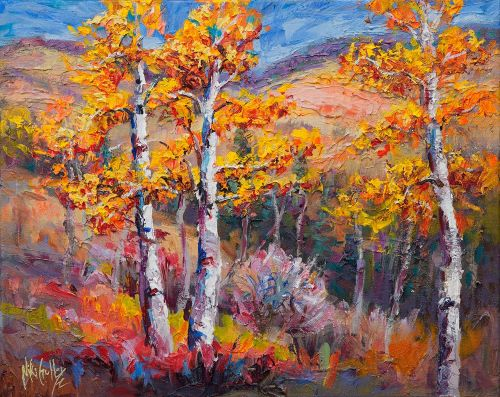 "New ""Aspen Delight"" Palette Knife Painting by Niki Gulley"