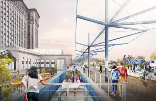 Gensler and PAU Create Ford Motor Mobility District in Detroit's Oldest Neighborhood