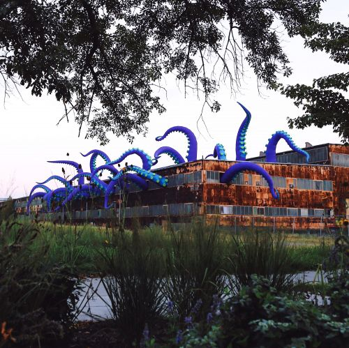A Gargantuan Purple Sea Monster Lurks Inside a Two-Story Warehouse at Philadelphia's Navy Yard