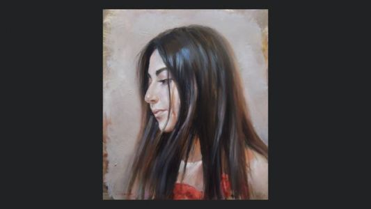 How to paint a portrait with oil. Head study