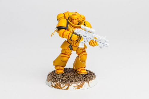 WIP: Imperial Fists Primaris Intercessor