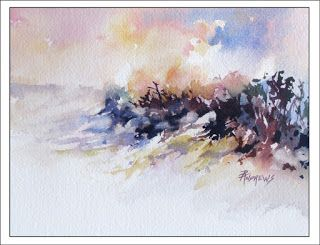 Skyscape 9..Watercolor..Texas Artist.Rae Andrews