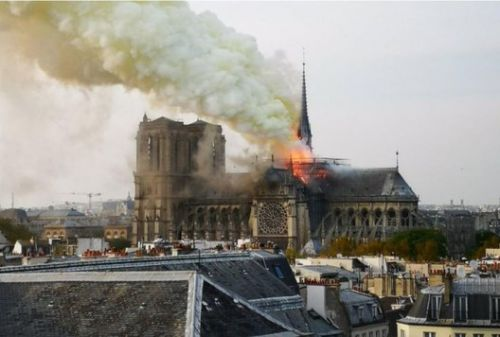 Fire at the Notre Dame Cathedral