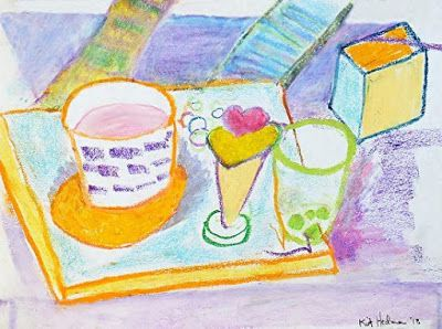 "Still Life Expressionist Painting ""Drawing Class"" by Colorado Artist Kit Hedman"