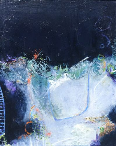 "Contemporary Abstract Expressionist Painting ""ACCEPTING IT ALL"" by Abstract Artist Pamela Fowler Lordi"