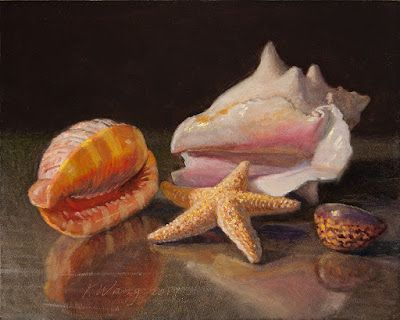 Seashells painting original