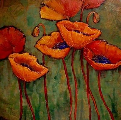 "Poppy Flower Fine Art Print ""Flower Tribune"" by Carol Nelson Fine Art"