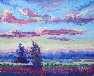 Land of Dreams, New Contemporary Landscape Painting by Sheri Jones