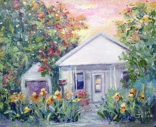 Gift of the Iris Garden, New Contemporary Landscape Painting by Sheri Jones