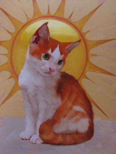 In the Sun painting of a kitten