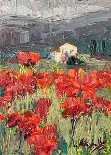New Poppy Field Painting by Contemporary Impressionist Niki Gulley