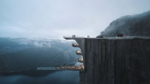 Hayri Atak's Conceptual Hotel Hangs Precariously from a Cliff