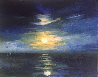 "Night Painting, ""Moonlight Dance,"" by Amy Whitehouse"