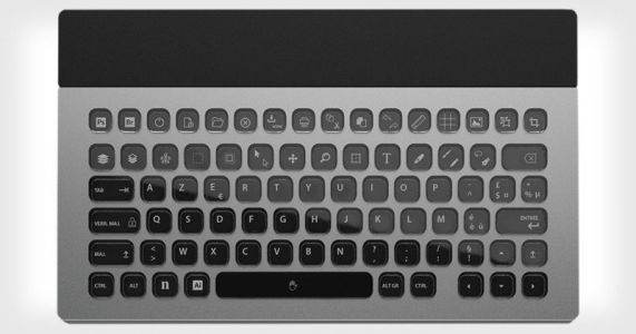 Nemeio is a 100% E-ink Keyboard You Can Customize for Photoshop