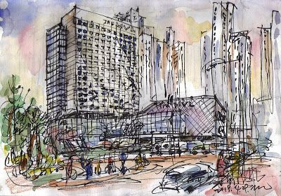 Sketches of four days at the MVL Goyang Hotel