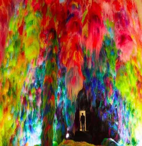 Textural Installations by Shoplifter Immerse Visitors in Furry Neon Caves