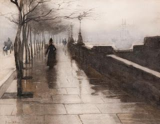Willem Witsen, Quai in London along the Thames