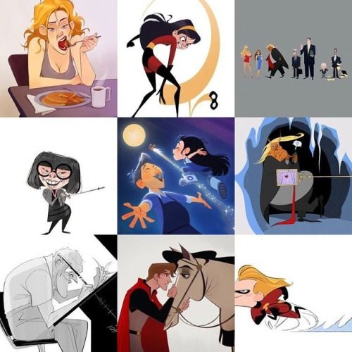 My top nine posts of 2018! I drew many red, black, and yellow