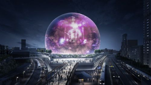 Madison Square Garden Unveils Images of Spherical Events Venue in London