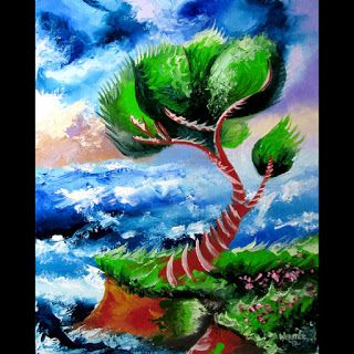 Mark Webster - Abstraction 17 - Abstract Landscape Oil Painting