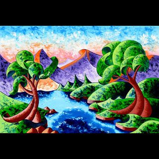 Mark Webster - Abstract Landscape Oil Painting 24x36