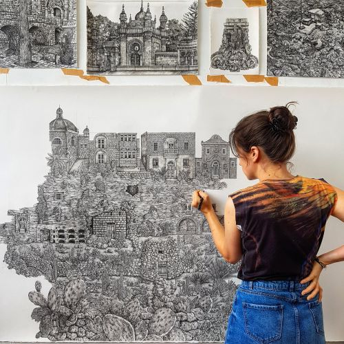 New Sprawling Ink Drawings by Olivia Kemp Explore the Landscapes of Malta and Bavaria