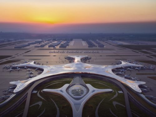MAD Designs a Snowflake-Inspired Terminal for Harbin Taiping International Airport