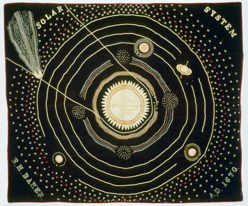 An Appliqued Solar System Quilt Used as a Teaching Aid in the Late 19th century