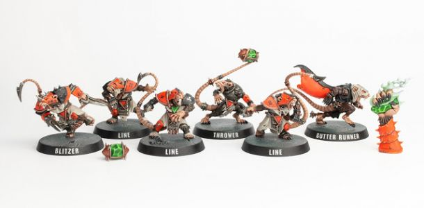 Showcase: Blitz/Blood Bowl Skaven Team