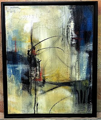 "Abstract Art, Contemporary Painting, ""Wandering"" by Texas Contemporary Artist Sharon Whisnand"