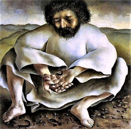 Lent - Stanley Spencer (1891-1959) Christ in the Wilderness The Scorpion