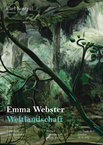 """Weltlandschaft"" by Emma Webster at Carl Kostyál Gallery, London"