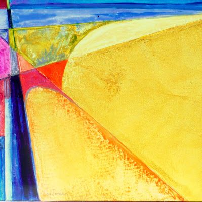 "Original Art, Geometric Abstract Painting ""SAN CLEMENTE"" by Contemporary Artist Lou Jordan"